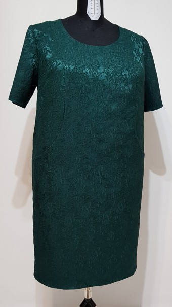 Rochie brocard Maia verde inchis
